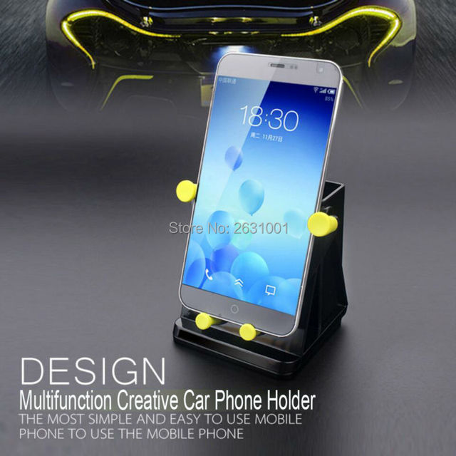 Car Phone Holder Cell Phone Bracket Stand Convenient Box Mount Handsfree 360 Rotate Fixed Smartphone Tablet Desk Accessories New