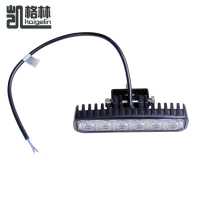 2PCS Lot 18W Car LED Light Bar Worklight Flood Light Boating Hunting Fishing Daytime Running Headlight
