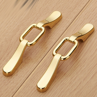 64MM Luxury Gold Silver Furniture Decoration Handle Wine Cabinet Drawer Handle Dresser Pull Knob Gold Cupboard