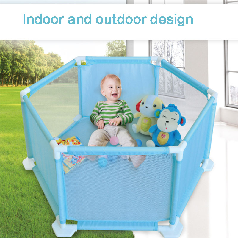 Indoor outdoor 6 surface baby playpens folding marine ball pool children place fence kids activity gear safety protection