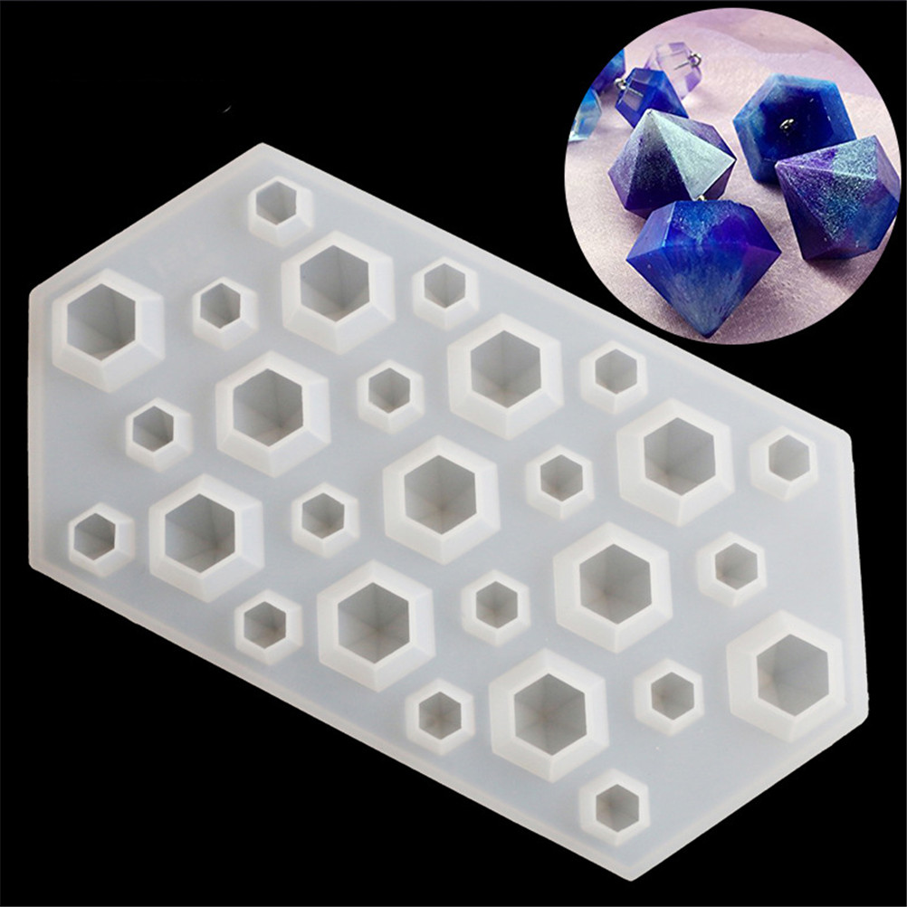 1pc Crystal Diamond Bracelet Pendant Jewelry Doming Mould Resin Casting Water Drop Epoxy Silicone Mold For Resin Forms(China)
