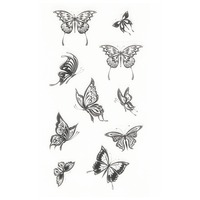 Scrapbook DIY Photo Cards Clear Stamps Transparent Silicone Rubber Stamps Butterflies Clear Stamps.