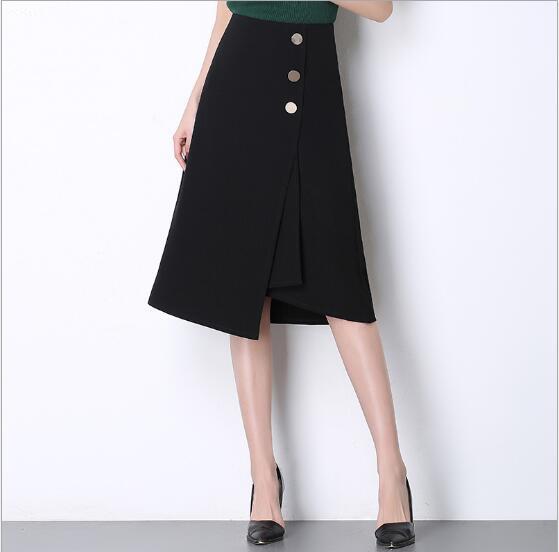 2018 printemps été Long bureau d'affaires travail porter des femmes slim jupe crayon mode élégant patchwork jupe