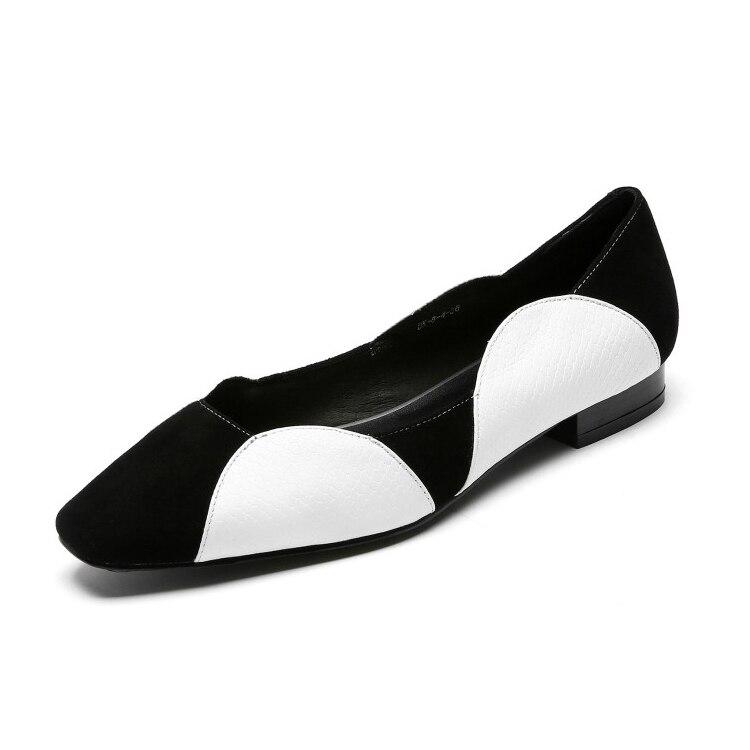 Fiesta Vaca Cómodos De Cuero Mujeres Mljuese Y Color gray Otoño Planos Primavera black Zapatos Las Chico Casuales Khaki Suave Vestido Mezclado 2019 WwIaqqTY