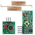 Модуль радиочастотного беспроводного приемника 433 МГц и комплект модуля передатчика 433 МГц для Arduino + 2 шт. Весенняя антенна RF 433 М Гц