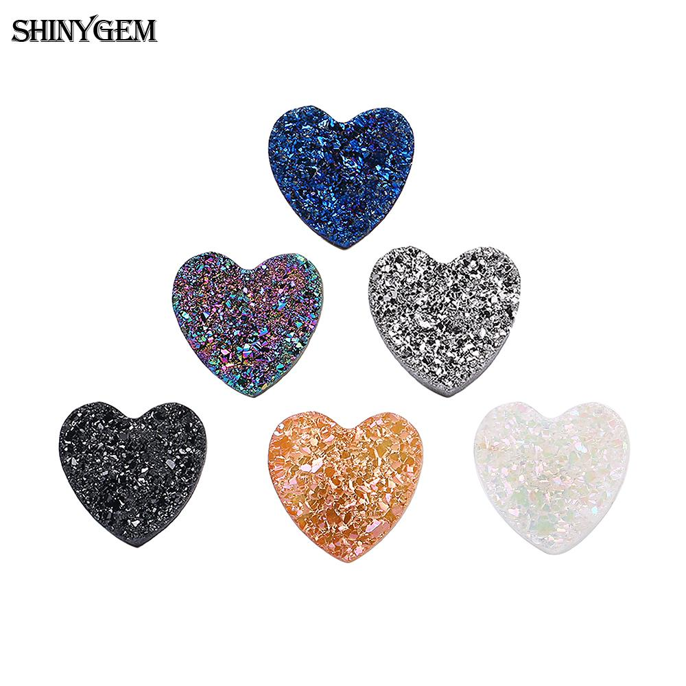 Love Heart Flat Back Crystal Beads 8//10//12mm Resin Rhinestone Gems Mosaic Craft