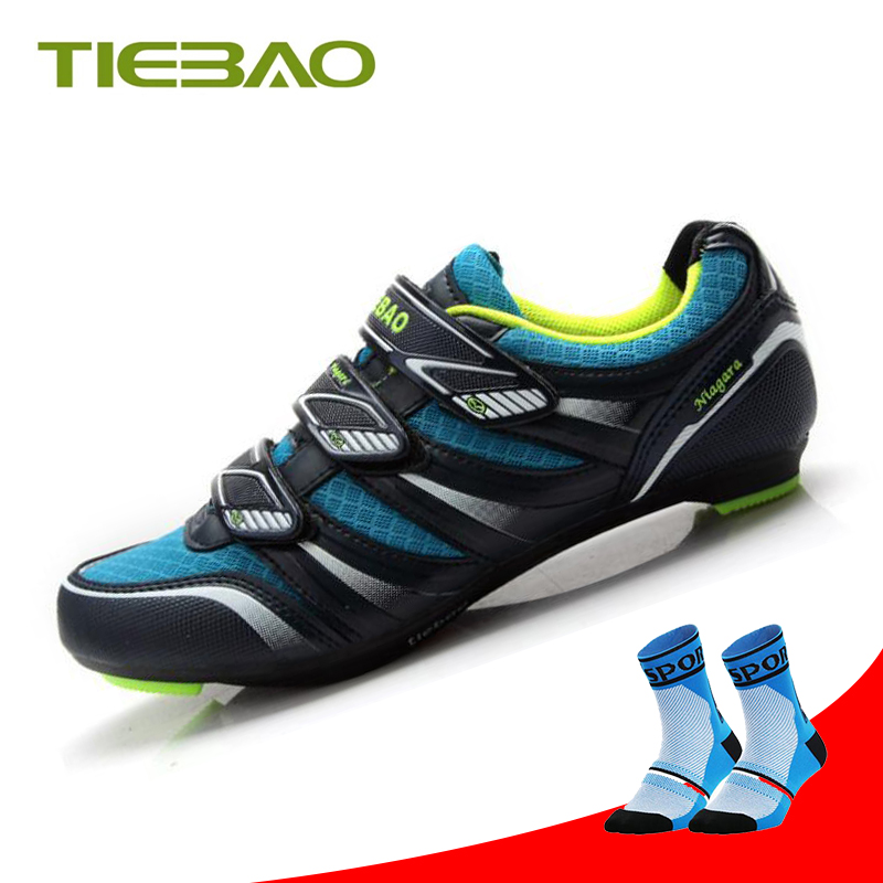 Low Cost TIEBAO cycling shoes road athletic riding sneakers men women sapato ciclismo self-locking outdoor breathable spd road bike shoes 32998731736