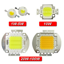 De alta potencia chip LED blanco bombillas de luz diodos 1W 3W 5W 10W 20W 30W 50W 100W blanco frío, cálido, natural integrado lámpara 3000 k-30000 K(China)