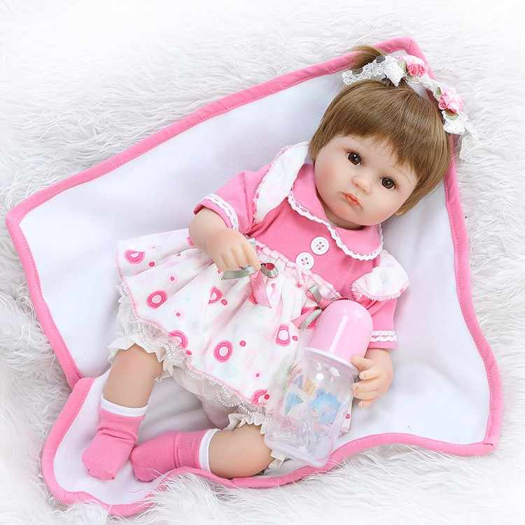 "16 ""42 cm Reborn vinyl Newborn mini babies Doll Soft Silicone Realistic Alive lol toddler Princess Babies dolls kids toys"