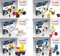 Comandante hierro mágico maquetas 3D bloques de construcción del modelo kit vehículo 6 estilos mezclados los niños juguetes educativos para niños