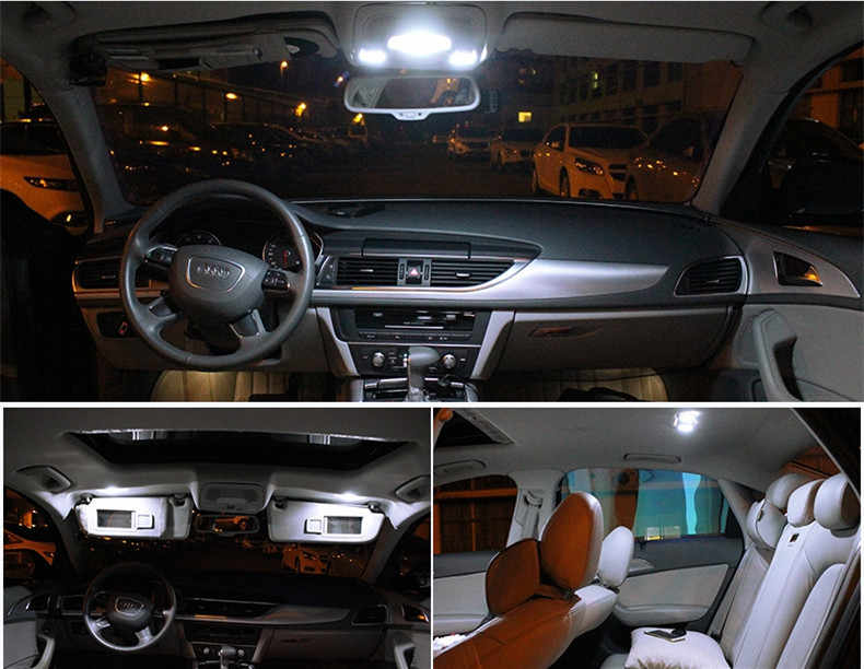 12pcs White Ice Blue Canbus Led Lamp Car Bulbs Interior Package Kit For 2000 2006 Chevrolet Tahoe Map Dome Plate Light