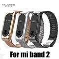 Металлический Ремешок Для Xiaomi Mi Группа 2 Безвинтовое Нержавеющей Стали браслет Для MiBand 2 Браслеты Заменить Аксессуары Для Mi Band 2