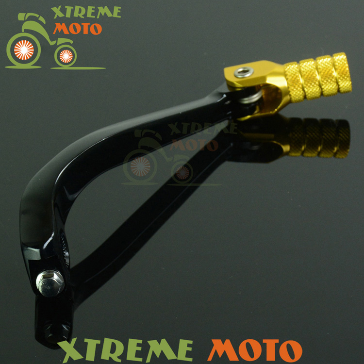 Gold CNC Aluminum Gear Shift Shifter Lever For Suzuki RMZ250 RMZ 250 08-15 Motocross Motorcycle Supermoto Enduro Dirt Bike free shipping 7507 cnc aluminium gear shift shifter lever for ktm 65sx2008 motorcycle motocross enduro dirt bike off road mx