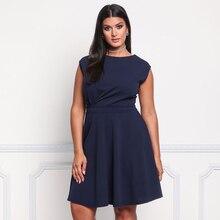 5045ec4a18 MISS Comportar Mulheres Novos Vestidos de Verão Plus Size Roupas Casuais  Sexy e Moda Vestido Sem
