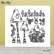 ZhuoAng Mushroom Plant Clear Stamps for DIY Scrapbooking/Photo Album Decorative Card Making Supplies
