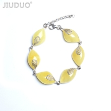 Genuine luxury JIUDUO Poland imported natural amber gold beeswax sterling silver necklace bracelet set Factory price fidelity jiuduo fashion natural baltic amber beeswax female necklace pendant 925 silver design factory direct special package mail