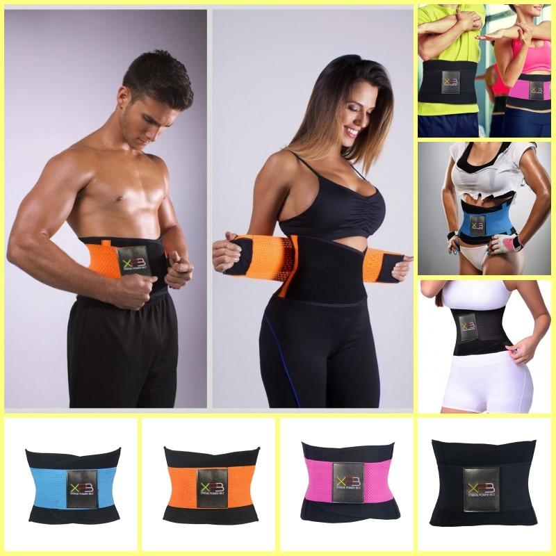 2017 Newest Women Men Sports Waist Trainer Training Xtreme Power Belt Shaper Adjustable Fitness Waist Support