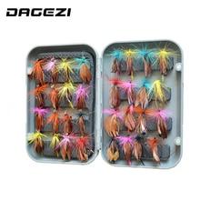DAGEZI 32pcs/sets fly fishing lure set Artificial bait trout fly fishing lures fishing hooks fishing tackle box
