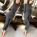 Spring and Autumn fashion temperament Slim knitting leisure female suit (cardigan + trousers + T-shirt three-piece)
