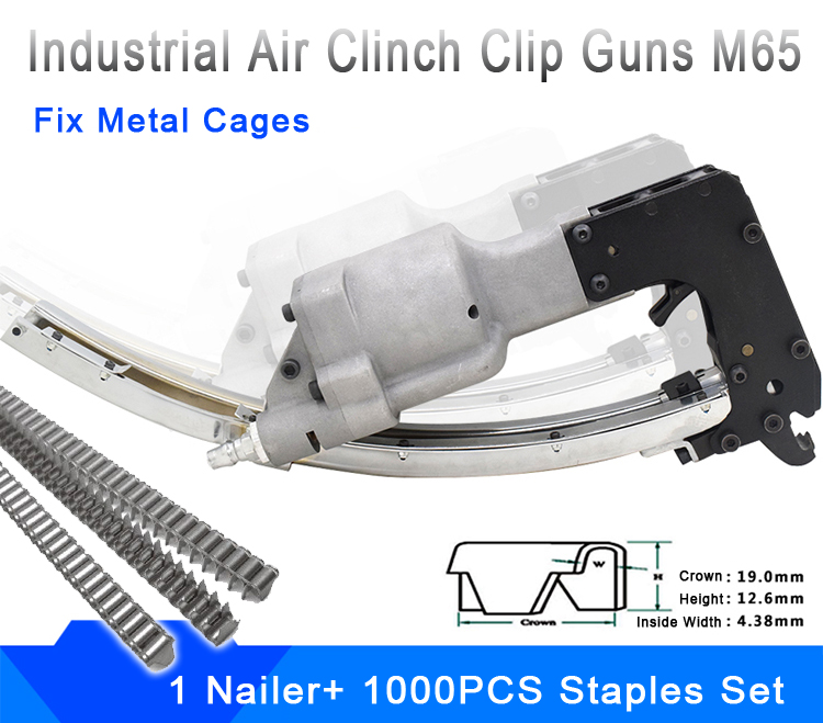 Air Clinch Clip Guns Spring Tools M65 Cl-4 Mattress Air Nailer For Cage Fixing Power Tools