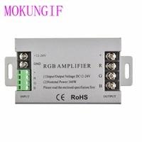 30A 360 W Alumínio led RGB Amplificador controlador DC12V 24V 360 W RGB Amplificador Para RGB SMD 5050 3528 LED RGB luz de tira| | |  -