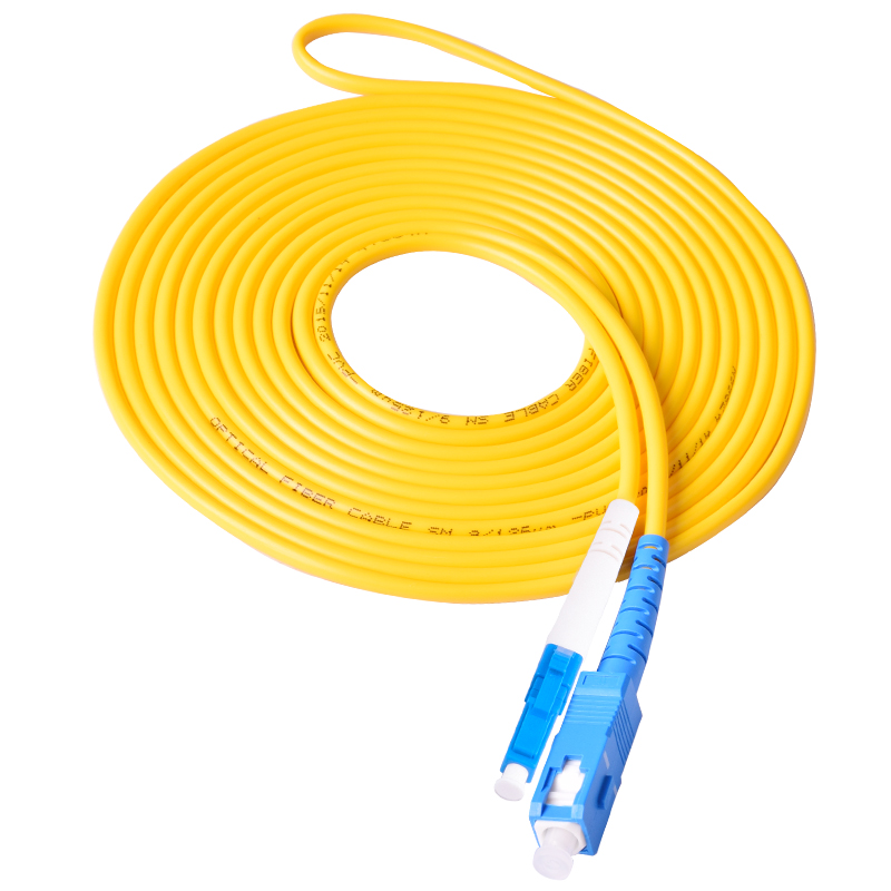 LC To SC Fiber Optical Patch Cord Jumper Cable, SM,Single Mode Simplex, 9/125