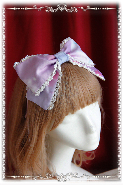 Sweet Printed Lolita Headpiece Lovely Hair Bow