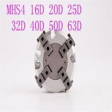 MHS4 16D 20D 25D 32D 40D 50D 63D Parallel Style Air Gripper 4 Finger Double Action Penumatic Cylinder Bore 16-63mm