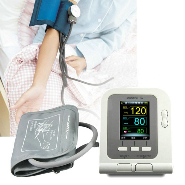 цена на CONTEC CONTEC08A CE&FDA Digital Upper Arm Blood Pressure Monitor Adult Cuff+PC Software Free shipping