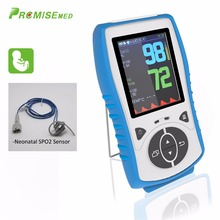 Neonatal SPO2 Sensor Handheld Pulse Oximeter SPO2+PR+Temp Blood Oxygen Monitor,2.8 LCD Pulse Blood Oximetro,CE Approval