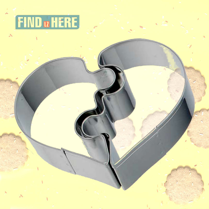 Cookie Cutter Mould Stainless Steel Baking Tools Couple Heart Shape DIY Baking Biscuit Cookie Cutter Mold Bakeware