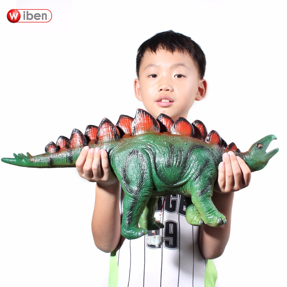 Jurassic Big Dinosaur Toy Stegosaurus Soft Plastic Animal Model Toy For Children Gift bwl 01 tyrannosaurus dinosaur skeleton model excavation archaeology toy kit white