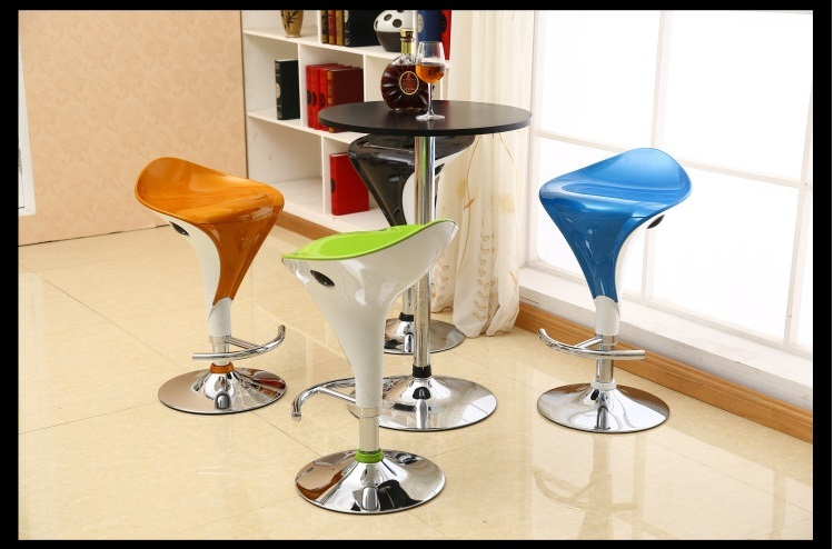 living room chair KTV shop night club stool plastic ABS seat lifting rotation bar chair stool free shipping ktv bar chair pe rattan seat cafe house stool living room children chair blue green color study stool free shipping