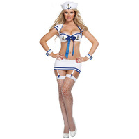 Sexy Women Navy Suit Role Playing Naval Uniform Costumes Sailor Suit Uniform Temptation LB