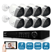SUNCHAN 8channel CCTV System 1080P DVR 8PCS 2 0MP SONY AHD Waterproof Outdoor Camera Home Security
