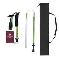 KORAMAN Ultralight Carbon Aluminum Alloy Walking Stick 4 Sections Telescopic Anti-skid Walking Stick Climbing Pole Drop Shipping
