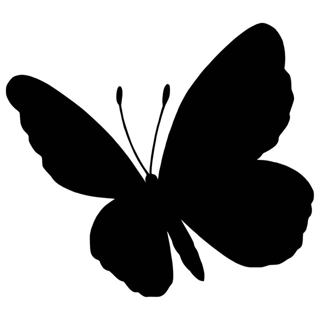 14 6 12 9cm Lucky Butterfly Silhouette Decorative Car