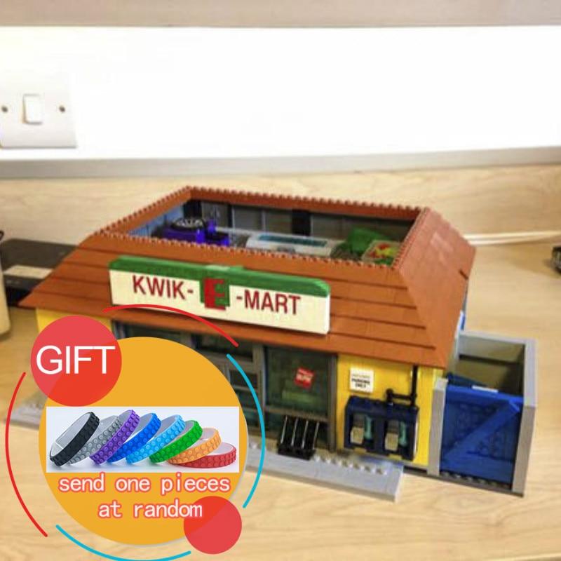 DHL16004 2232Pcs The Simpsons Kwik-E-Mart Building Blocks Set Mini blocks Christmas Gift Clone 71016 toys lepin neue lepin 16004 2232 stucke die simpsons action modell baustein ziegel kompatibel 71016 fur kinder geschenk