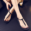 2016 женская мода Сандалии тапочки металлические пряжки женщин сандалии плоским вьетнамки сандалии Щепотку