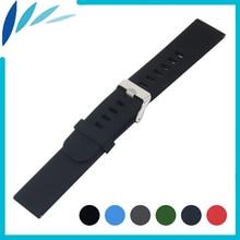 Borracha de silicone watch band 22mm para asus zenwatch 1 2 homens WI500Q WI501Q Fecho de Aço Inoxidável Cinta Cinto de Liberação Rápida pulseira