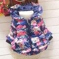 2015 nueva otoño invierno baby girls chaqueta abrigos niños chaqueta abrigos Niños chaquetas abrigos ropa flores Q161
