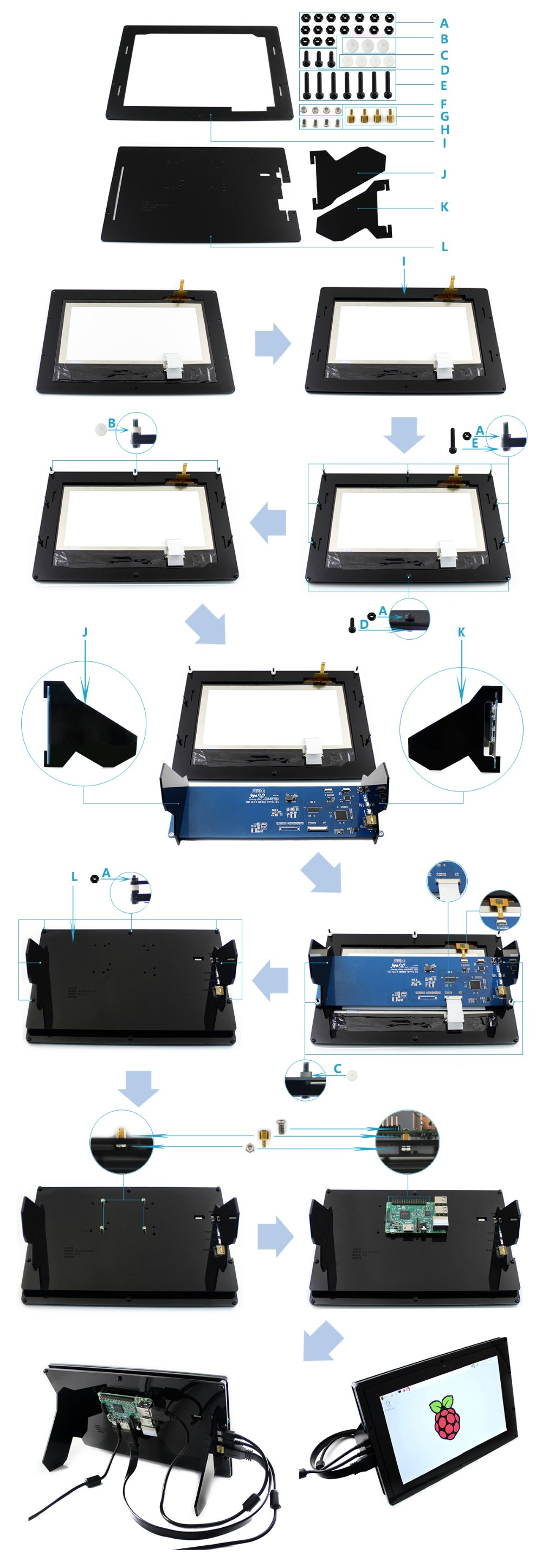 10.1inch-HDMI-LCD-B-with-Holder-assemble