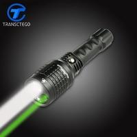 flashlight led double light 18650 torch rechargeable multifunctional Green light infrared laser light lanterna tatical zoom