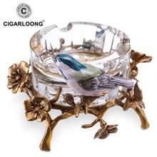CIGARLOONG Cigar Ashtray European Austrian Crystal Magpie FH01-1276