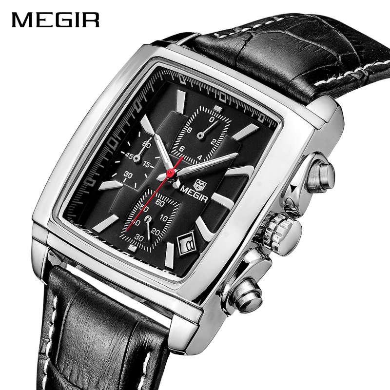 все цены на Top Brand Relogio Masculino Mens Watches Luxury Men Military Sport Luminous Wristwatch Chronograph Leather Quartz Watch