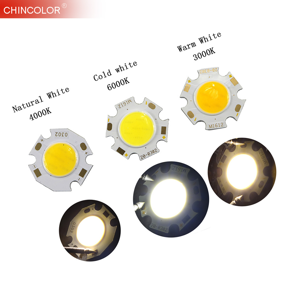 10PCS Led Cob Light Source Chip COB 12W 3W 5W 7W 300mA DIY Spotlight On Board Bulb Ceiling Lamp Lighting Cold Warm white JQ