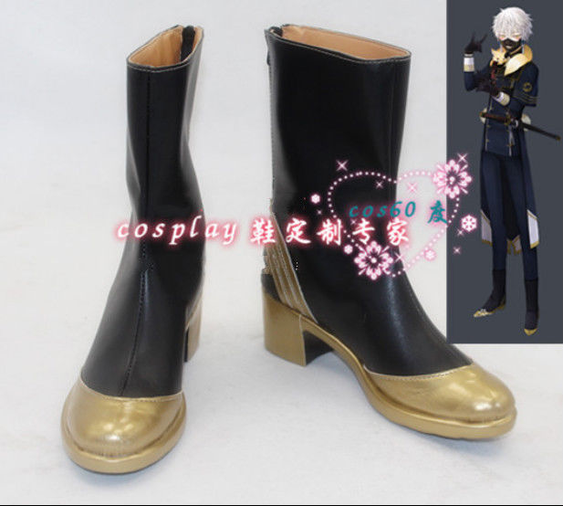 Online Game Touken Ranbu Cosplay Boots Nakigitsune Boots Custom Shoes