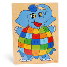 Supply wooden toys, elephants letters puzzle, makeup, cognitive series of children's early education cognitive effects of early brain injury