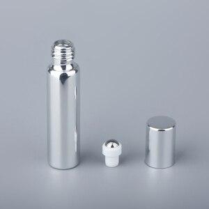 Image 3 - 10MLมินิแบบพกพาขวดน้ำมันหอมระเหยUVแก้วเติมขวดน้ำหอมโรลออนน้ำมันหอมระเหยขวด