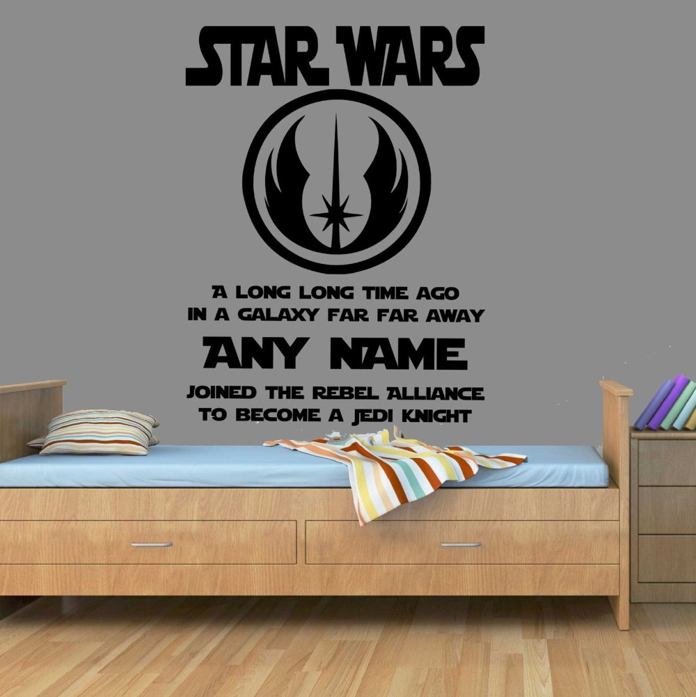 Star Wars Vinyl Wall Sticker . Wall Stickers Home Decor Art Personalised Wall  Stickers For Boy Bedrooms In Wall Stickers From Home U0026 Garden On ...